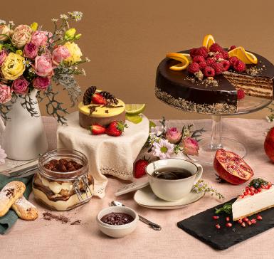 Мус от белгийски шоколад и сезонни плодове